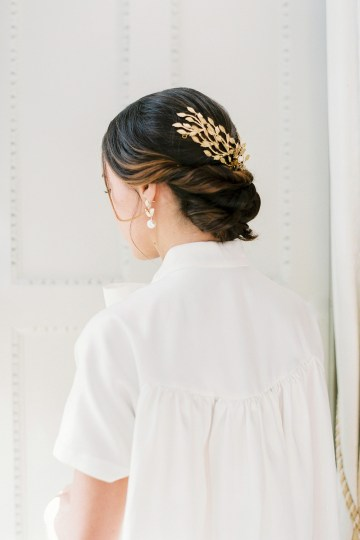 Citrus & Peach Chateau Wedding Inspiration | Lucy Davenport 25