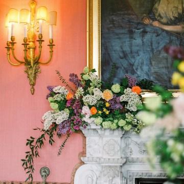 Citrus & Peach Chateau Wedding Inspiration | Lucy Davenport 3