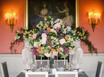 Citrus & Peach Chateau Wedding Inspiration | Lucy Davenport 32