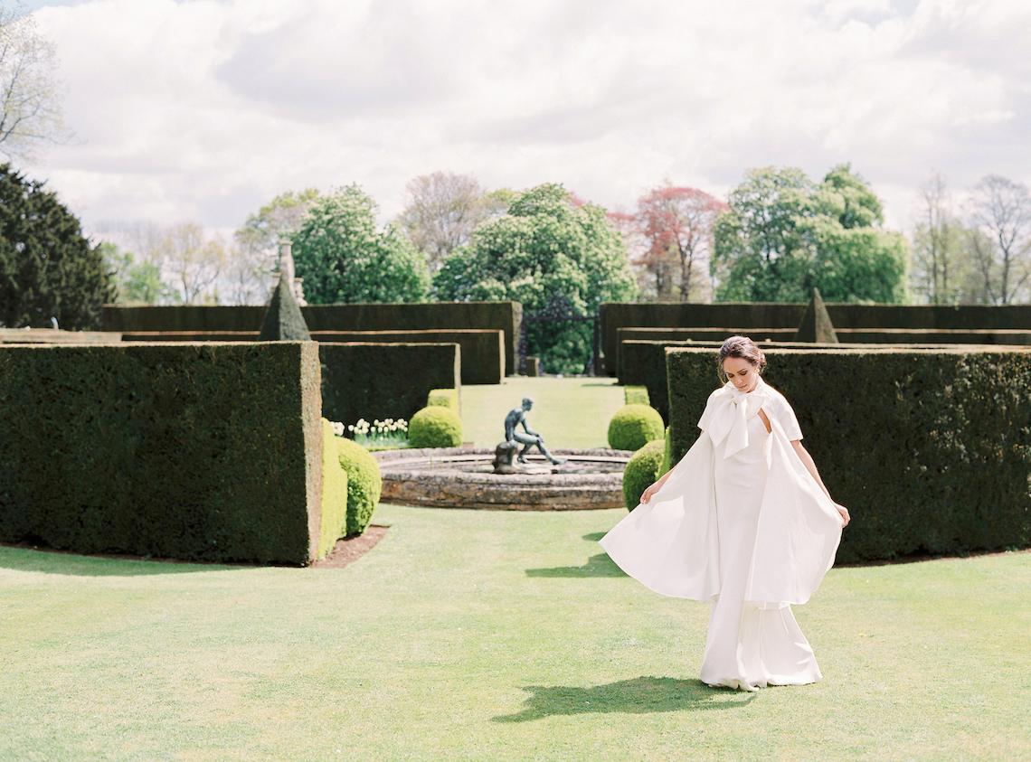 Citrus & Peach Chateau Wedding Inspiration | Lucy Davenport 36