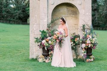 Citrus & Peach Chateau Wedding Inspiration | Lucy Davenport 37