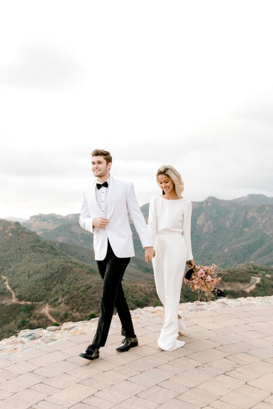 Fashion-forward Black & White Wedding Ideas From Malibu | Babsy Ly 11