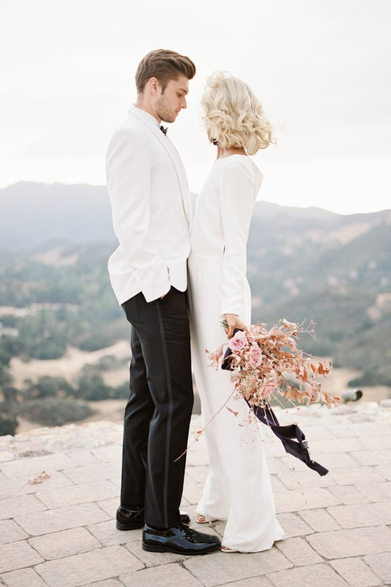 Fashion-forward Black & White Wedding Ideas From Malibu | Babsy Ly 5