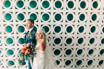 Midcentury Modern Desert Wedding Made Of Boho Dreams | Vienna Glenn 51