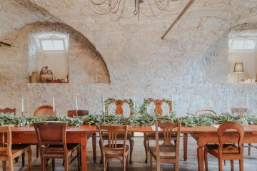 Monstera Leaves & Artichokes; A Hip Slovenian Wedding   Karen Willis Holmes Bridal   Aljosa Videtic 1
