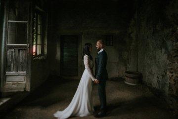 Monstera Leaves & Artichokes; A Hip Slovenian Wedding   Karen Willis Holmes Bridal   Aljosa Videtic 11