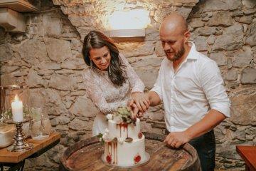 Monstera Leaves & Artichokes; A Hip Slovenian Wedding   Karen Willis Holmes Bridal   Aljosa Videtic 13