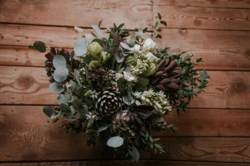 Monstera Leaves & Artichokes; A Hip Slovenian Wedding   Karen Willis Holmes Bridal   Aljosa Videtic 2