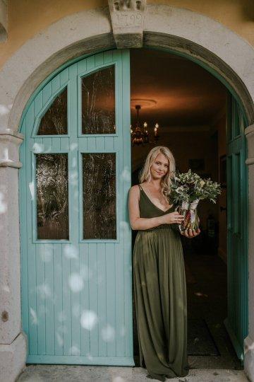 Monstera Leaves & Artichokes; A Hip Slovenian Wedding   Karen Willis Holmes Bridal   Aljosa Videtic 21