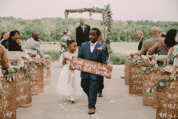 Pretty Pink Countryside Wedding (With Cute Aisle Signage) | Barkerture Photo 10