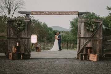 Pretty Pink Countryside Wedding (With Cute Aisle Signage) | Barkerture Photo 18
