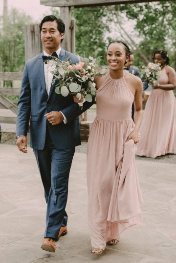 Pretty Pink Countryside Wedding (With Cute Aisle Signage) | Barkerture Photo 26