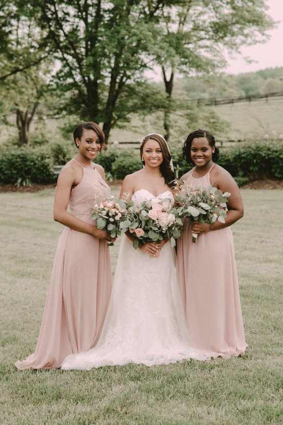 Pretty Pink Countryside Wedding (With Cute Aisle Signage) | Barkerture Photo 32