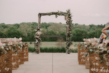 Pretty Pink Countryside Wedding (With Cute Aisle Signage) | Barkerture Photo 8