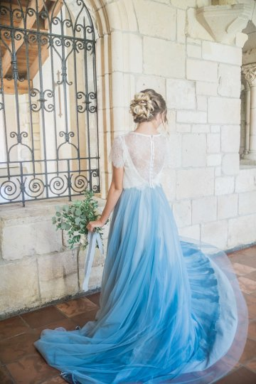 Romantic Watercolor Ideas Featuring A Blue Wedding Dress | Cana Rose Photography 10