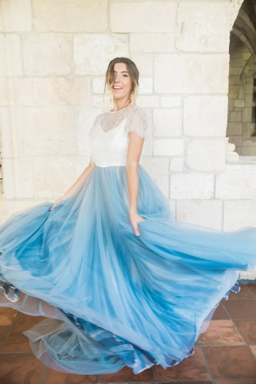 Romantic Watercolor Ideas Featuring A Blue Wedding Dress | Cana Rose Photography 14