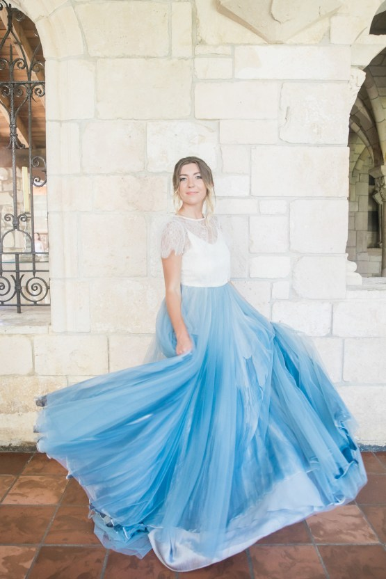 Romantic Watercolor Ideas Featuring A Blue Wedding Dress | Cana Rose Photography 15
