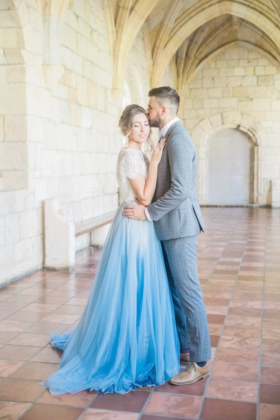 Romantic Watercolor Ideas Featuring A Blue Wedding Dress | Cana Rose Photography 17