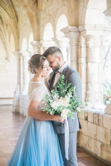 Romantic Watercolor Ideas Featuring A Blue Wedding Dress | Cana Rose Photography 18