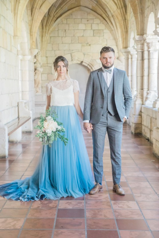 Romantic Watercolor Ideas Featuring A Blue Wedding Dress | Cana Rose Photography 19