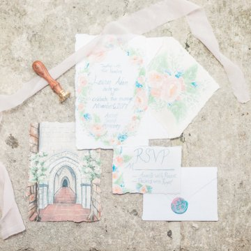 Romantic Watercolor Ideas Featuring A Blue Wedding Dress | Cana Rose Photography 4