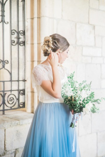 Romantic Watercolor Ideas Featuring A Blue Wedding Dress | Cana Rose Photography 9