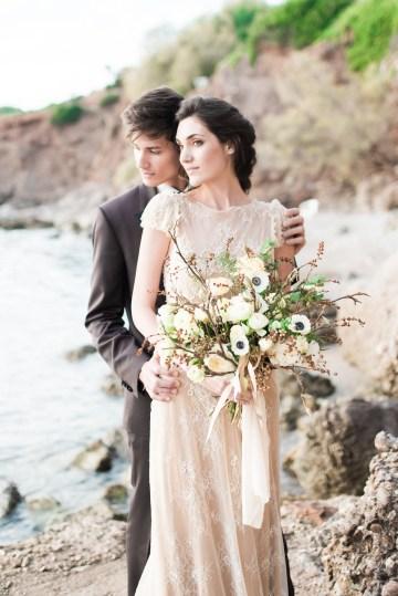 Earthy Organic Seaside Wedding Inspiration (& A Nude Wedding Dress) | George Liopetas 13