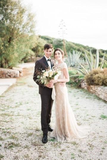Earthy Organic Seaside Wedding Inspiration (& A Nude Wedding Dress) | George Liopetas 21