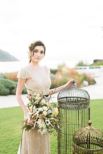 Earthy Organic Seaside Wedding Inspiration (& A Nude Wedding Dress) | George Liopetas 26