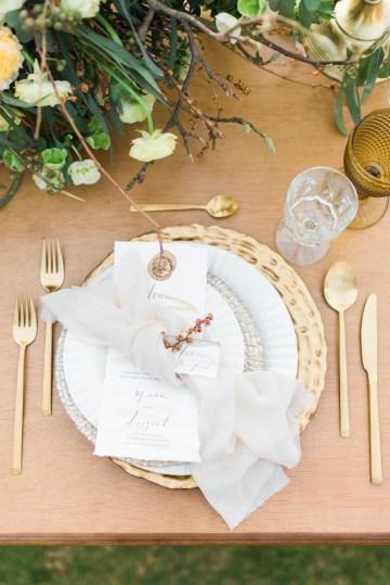 Earthy Organic Seaside Wedding Inspiration (& A Nude Wedding Dress) | George Liopetas 36