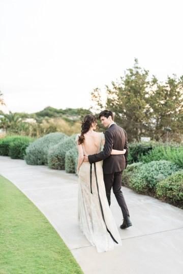 Earthy Organic Seaside Wedding Inspiration (& A Nude Wedding Dress) | George Liopetas 39