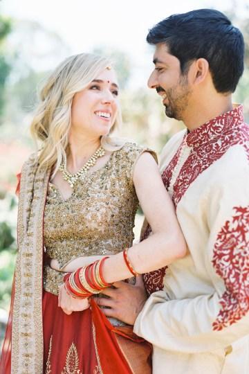 Hindu American Fusion Wedding (With Peonies) | Bramble and Vine 15