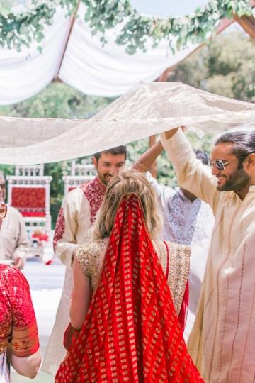 Hindu American Fusion Wedding (With Peonies) | Bramble and Vine 17