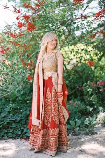 Hindu American Fusion Wedding (With Peonies) | Bramble and Vine 5