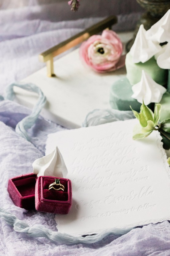Sparkling Art Deco Wedding Inspiration From NYC | Mibellarosa | Jenny Fu Studio 1