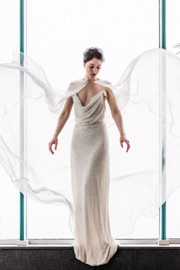 Sparkling Art Deco Wedding Inspiration From NYC | Mibellarosa | Jenny Fu Studio 13