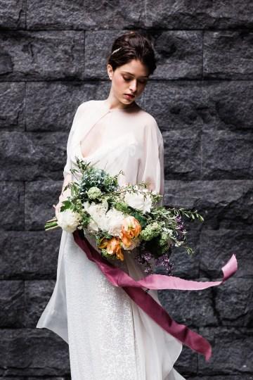 Sparkling Art Deco Wedding Inspiration From NYC | Mibellarosa | Jenny Fu Studio 18