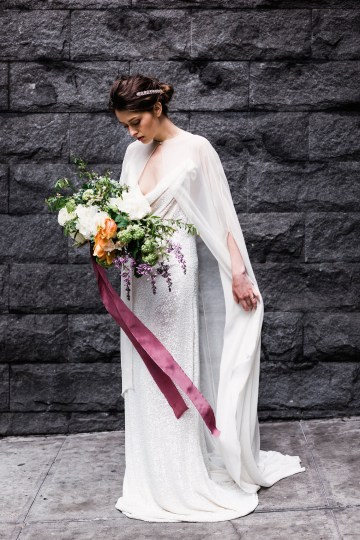 Sparkling Art Deco Wedding Inspiration From NYC | Mibellarosa | Jenny Fu Studio 19