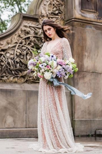 Sparkling Art Deco Wedding Inspiration From NYC | Mibellarosa | Jenny Fu Studio 28