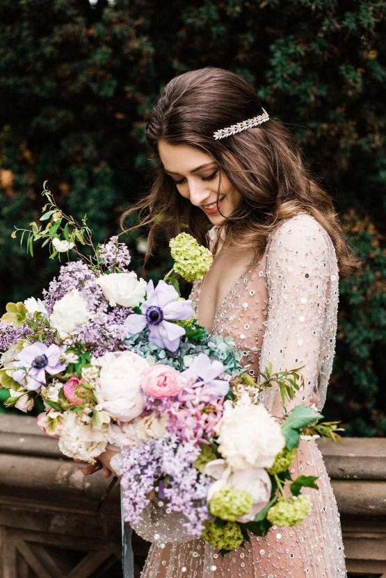 Sparkling Art Deco Wedding Inspiration From NYC | Mibellarosa | Jenny Fu Studio 32