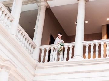 Sparkling Art Deco Wedding Inspiration From NYC | Mibellarosa | Jenny Fu Studio 35