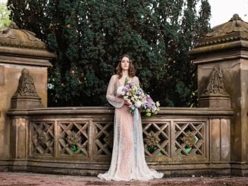 Sparkling Art Deco Wedding Inspiration From NYC | Mibellarosa | Jenny Fu Studio 43