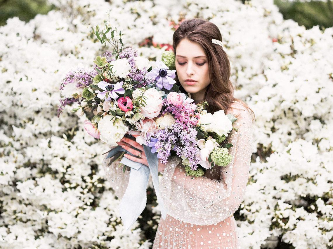 Sparkling Art Deco Wedding Inspiration From NYC | Mibellarosa | Jenny Fu Studio 48