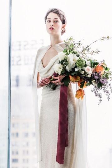 Sparkling Art Deco Wedding Inspiration From NYC | Mibellarosa | Jenny Fu Studio 5