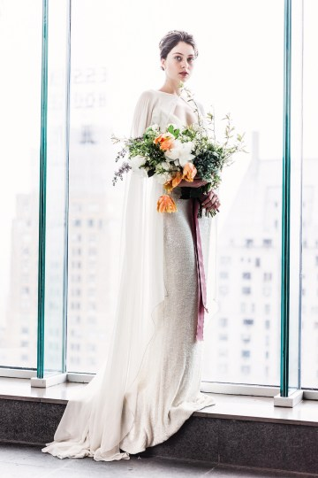 Sparkling Art Deco Wedding Inspiration From NYC | Mibellarosa | Jenny Fu Studio 7