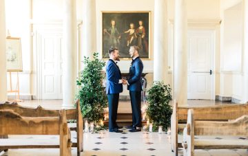 Modern Palace Wedding Inspiration With Sharp Groom Style