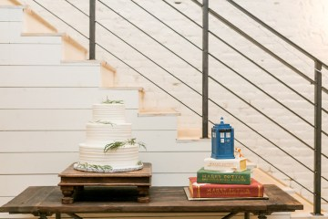 Literary Chic Loft Wedding (With A Harry Potter Cake!)   Brio Photography 11