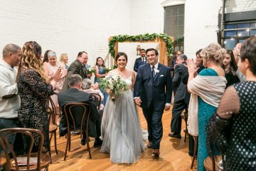 Literary Chic Loft Wedding (With A Harry Potter Cake!)   Brio Photography 20