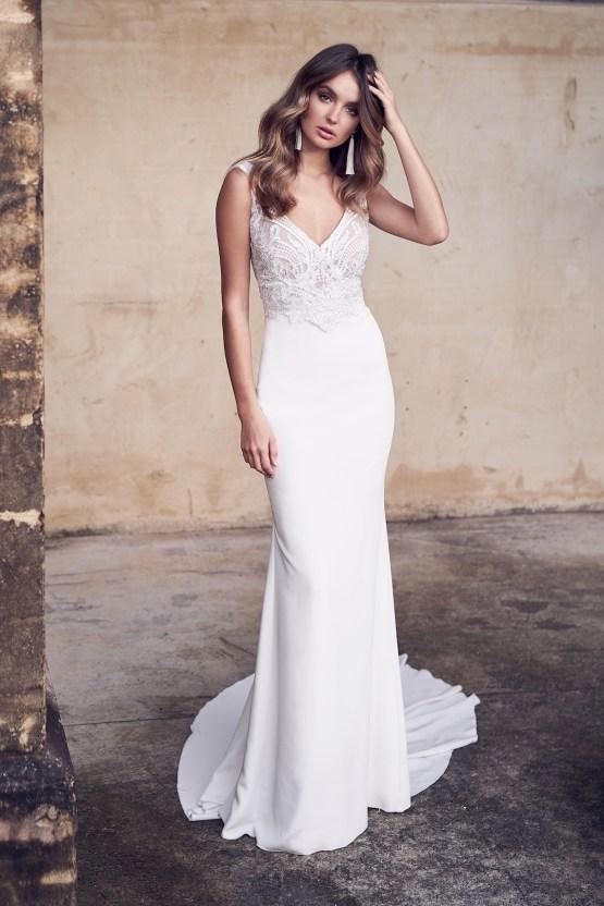 The Romantic & Sparkling Anna Campbell Wanderlust Wedding Dress Collection | Jamie Dress (Crepe de Chine)-1