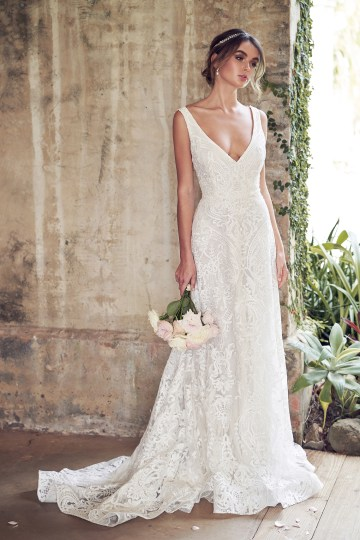 The Romantic & Sparkling Anna Campbell Wanderlust Wedding Dress Collection | Jamie Dress (Empress Lace Skirt)-1